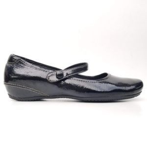 ECCO Black Patent Leather Mary Jane Ballet Flats